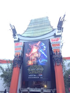 The Chinese Theater screening Star Wars