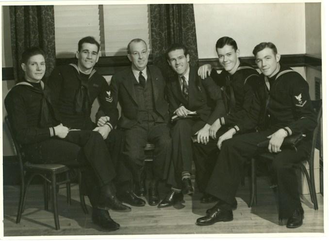 1940 Navigators Gospel Team - From Left Vic McAnney, Ken Watters, Swanson, Dawson Trotman, Gordon Taggart & Oran Bell