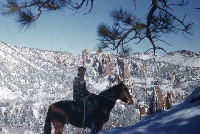 Dawson Trotman on Horseback Riding around Glen Eyrie Property
