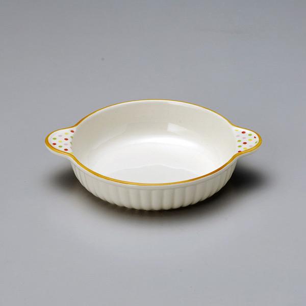 日本直送。 - 圓點 悠閒橘系列 圓形焗烤盤: JCRAFTS.com