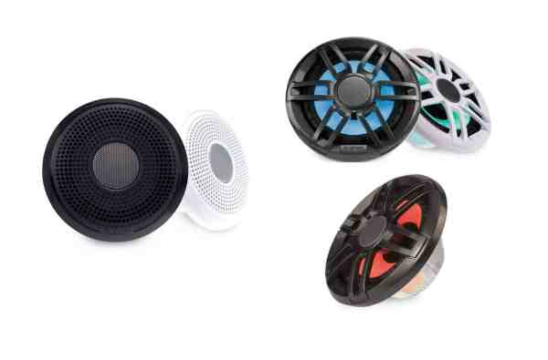 Fusion XS-Serie Marine-Lautsprecher mit Klassik- und Sportgrill