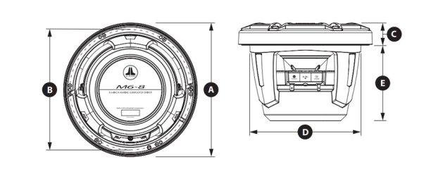 JL-Audio-M6-8IB-Marine-Subwoofer-Abmessungen.