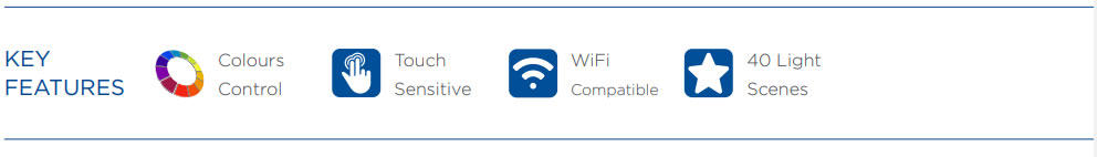OceanLED Explore E6 DMX WiFi Touch Panel Controller Eigenschaften