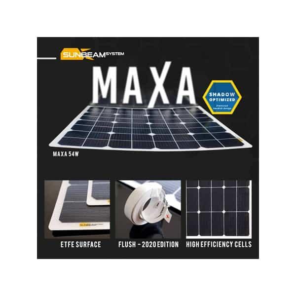 SunBEAMsystem Maxa 54W Flush Solar Modul X54x53F-