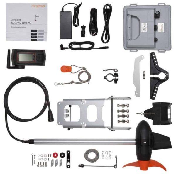Torqeedo Ultralight 403-A/AC Elektro-Außenborder Lieferumfang