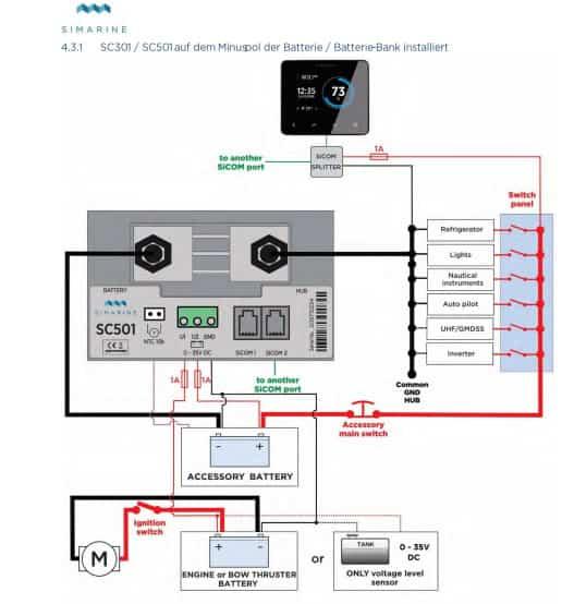 simarine Batteriemonitor-sc301 Shunt Zeichnung