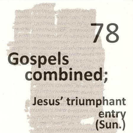 Gospels combined 78 - jesus triumphant entry - sun