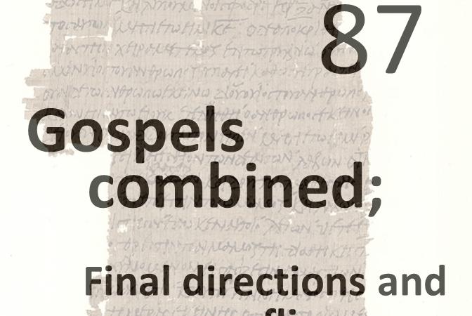 Gospels combined 88 - final directions and flies away