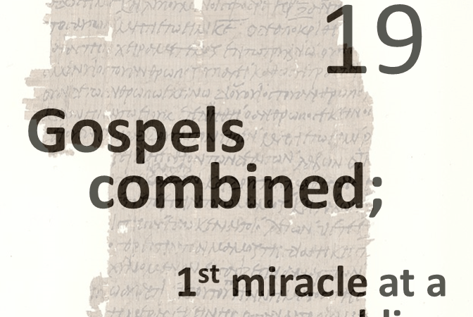 Gospels combined 19 - 1st miracle at a wedding