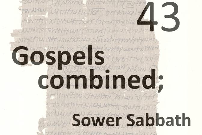 Gospels combined 43 - sower sabbath sermon