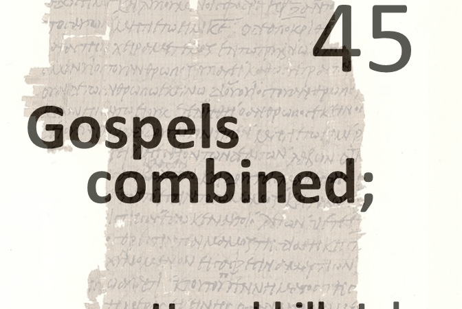 Gospels combined 45 - herod kills john