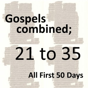 Gospels combined - all first 50 days