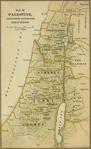 Map of Israel between the new testament and old testament