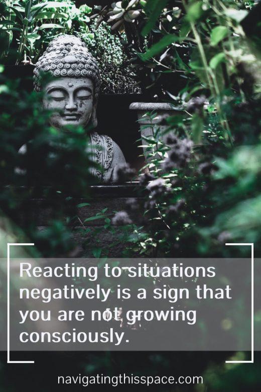 buddha sitting peacefully in a garden meditating