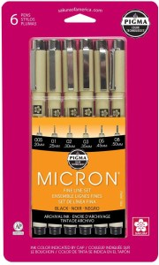 Sakura Pigma 30062 Micron Blister Card Ink Pen Set