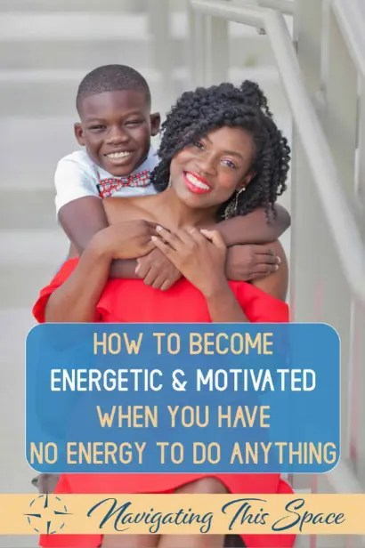 Black mom and sons poses for the camea | Learn how to become energetic and motivated when you have no energy to do anything