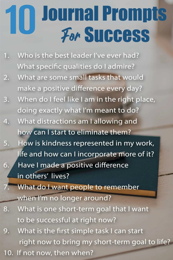 10 Journal prompts for success