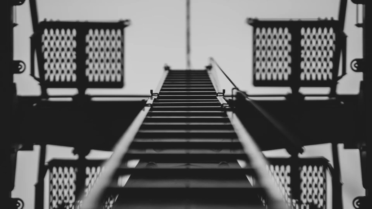 The ladder of success leads to places unknown and unseen