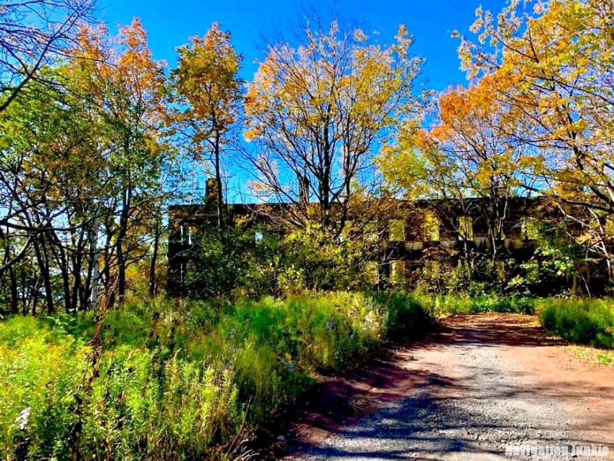 abandoned ruins, overlook mountain house