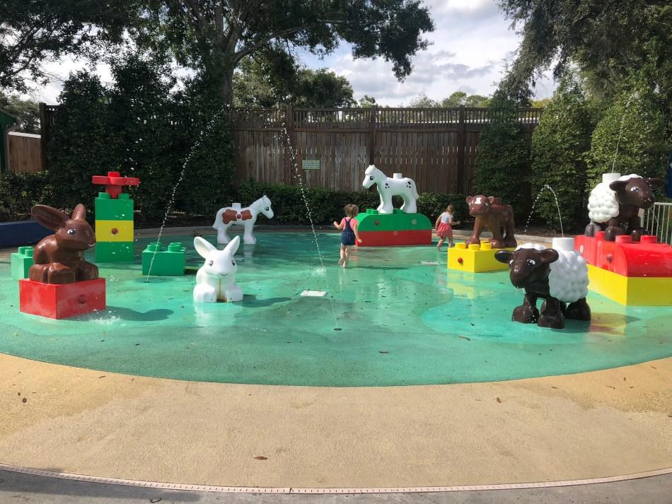 The Splash Pad in Duplo Valley. Legoland Florida