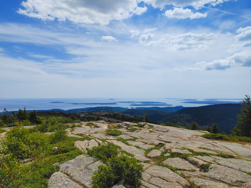 Cadillac Mountain, Acadia National Park with kids.