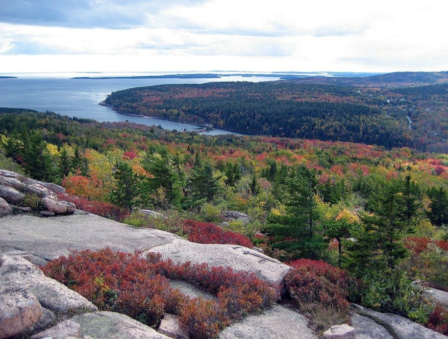 Acadia National Park, fall foliage in the US