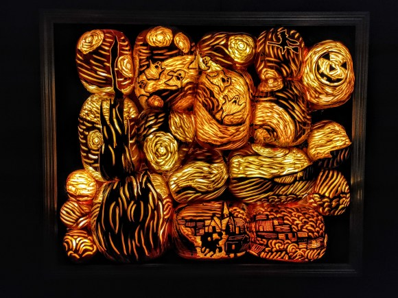 pumpkin art at the Great Jack 'O' Lantern Blaze.
