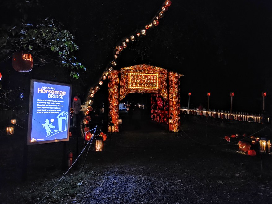 The Headless Horseman Bridge at the Great Jack 'O' Lantern Blaze.
