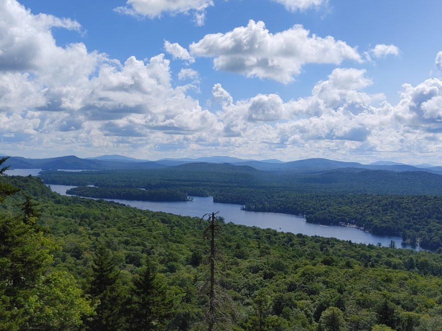 Hiking Bald Mountain, view from the summit