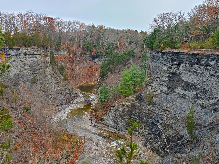 Gorge View from the South Rim Trail at Taughannock Falls State Park