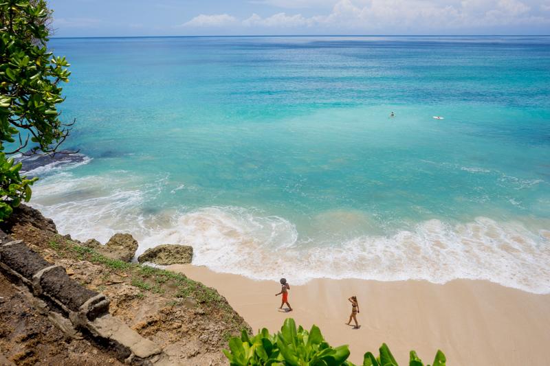 Bali beach, budget destinations for families
