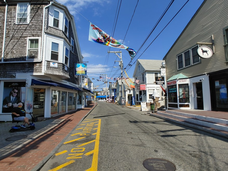 Commercial Street in Provincetown, Cape Cod with kids