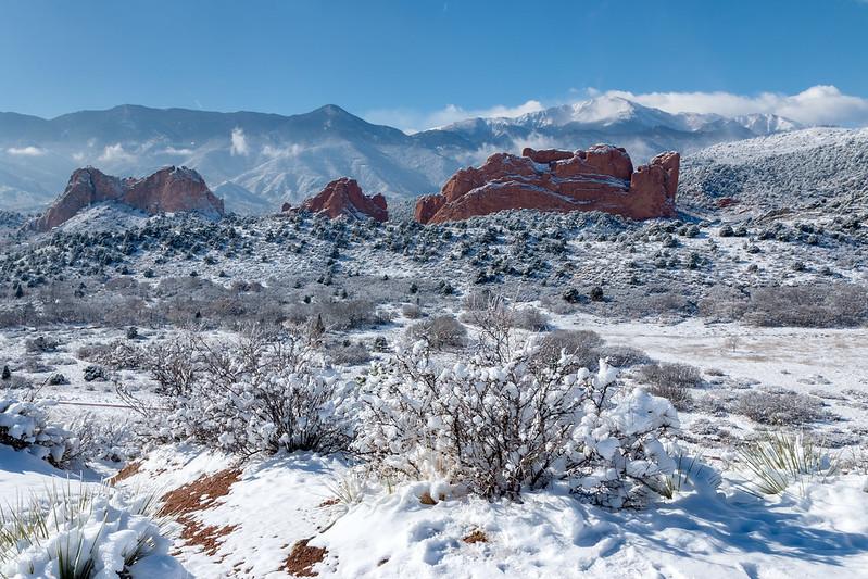 Garden of the Gods, cold winter family getaways