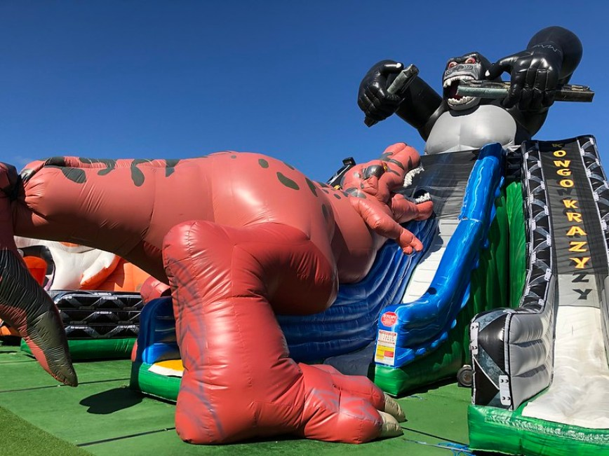 Cape Cod Inflatable Park, Cape Cod with Kids.