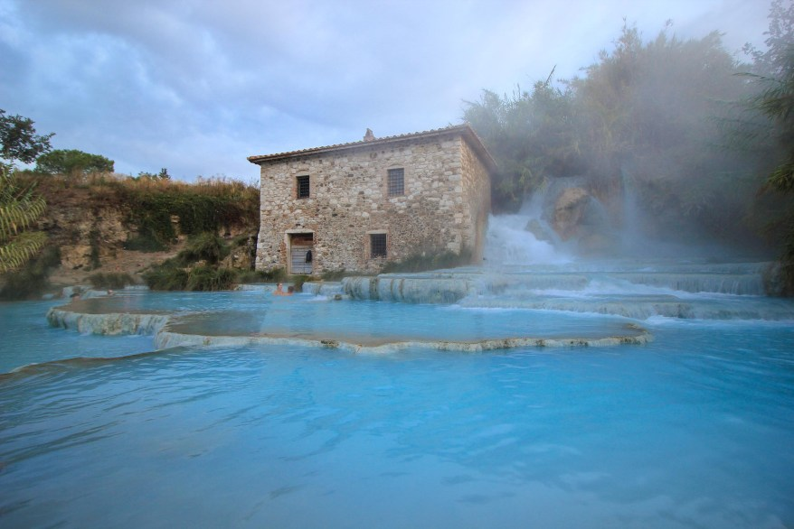 Saturnia Springs, hot springs in Europe for families
