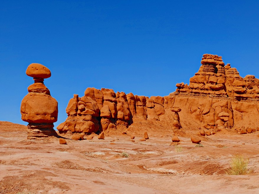 the pillars at Goblin Valley State Park , visiting Goblin Valley State Park with kids