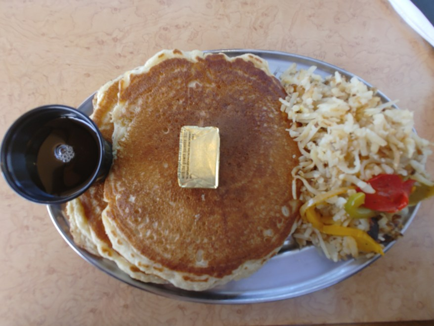pancakes & hash browns on the royal gorge railroad