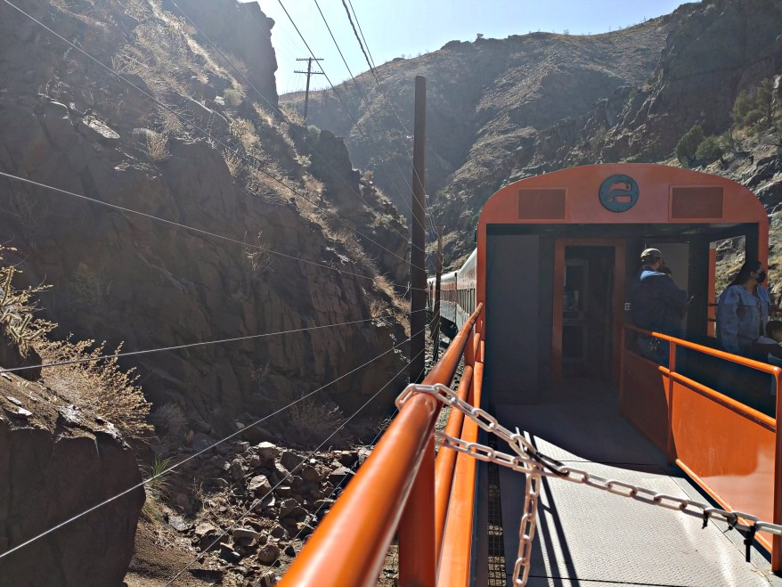 the open air car on the royal gorge railroad