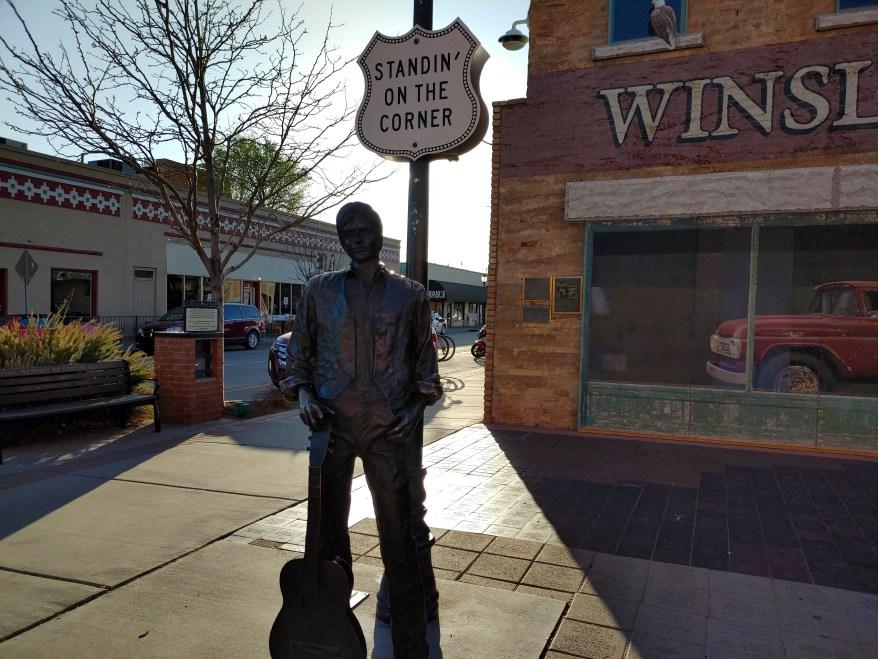 standin' on the corner, winslow AZ