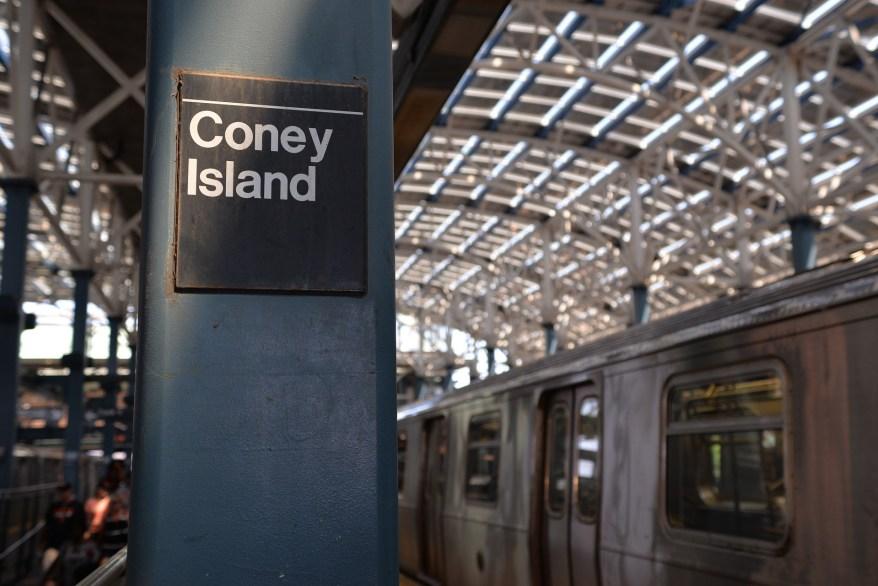 NYC subway to coney island