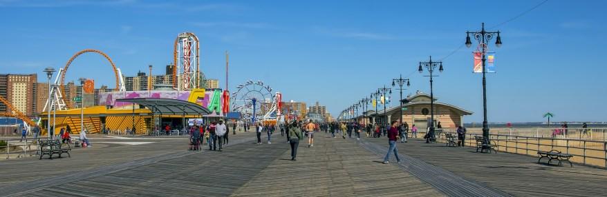 Coney Island Boardwalk, visiting coney island with kids