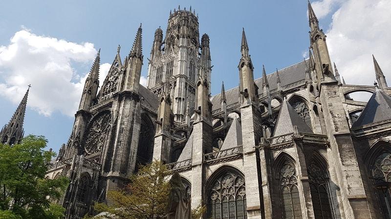 Gothic style church in Rouen