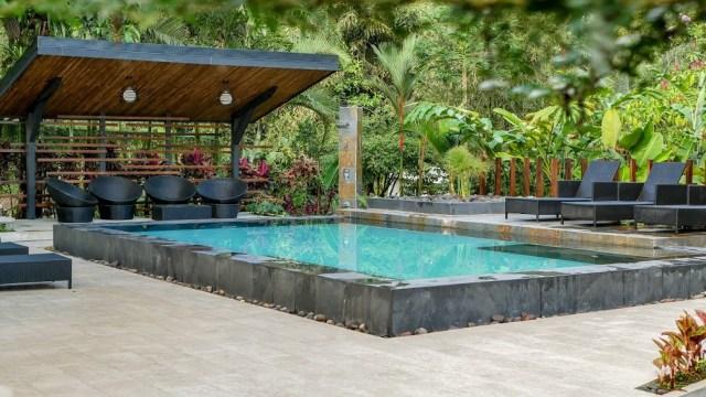 Tifakara Boutique Hotel pool in La Fortuna, Costa Rica.