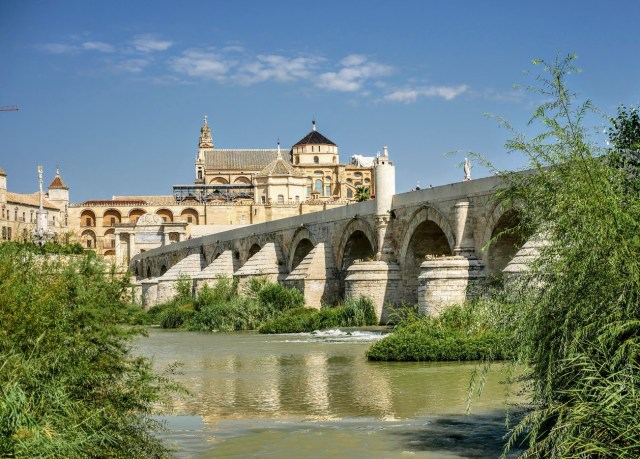 roman bridge seville spain