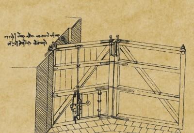 Lo studio sulla chiusa di Leonardo da Vinci.