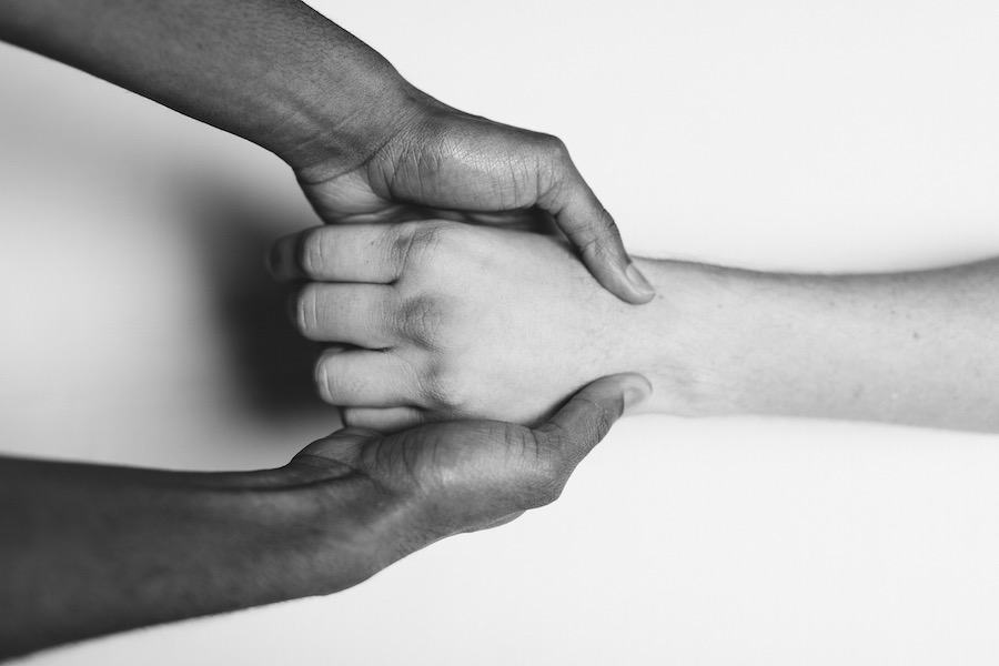 hands touching