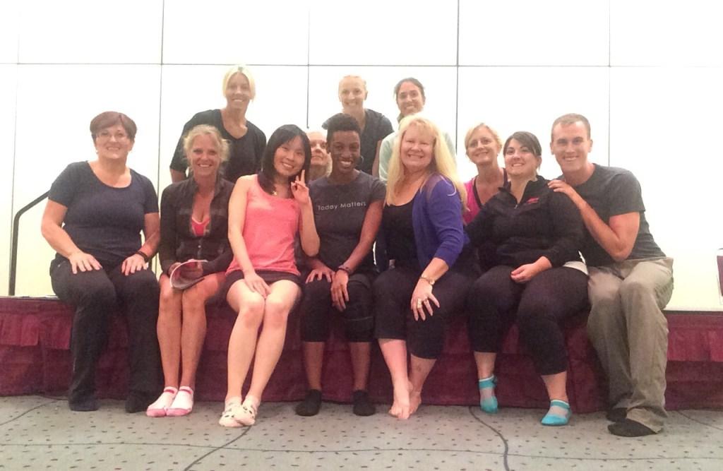 group photo at canfitpro world fitness expo