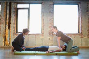 some partner Thai massage techniques