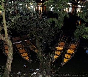 Boats in Naini Laks in Night