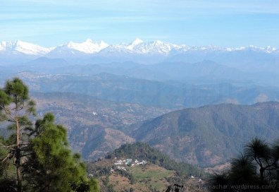 Himalaya from on the way Patal Bhuvneshwar